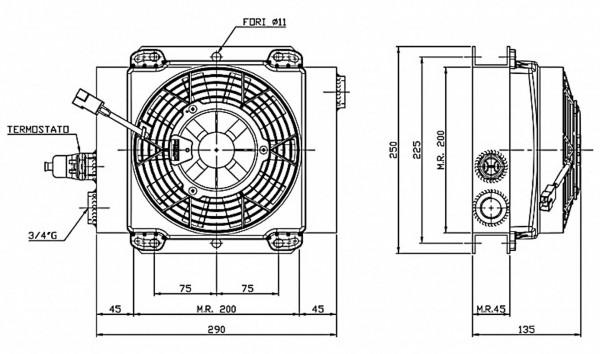 Ferrari Ölkühler FCA 15-50 12V inkl. Thermostat