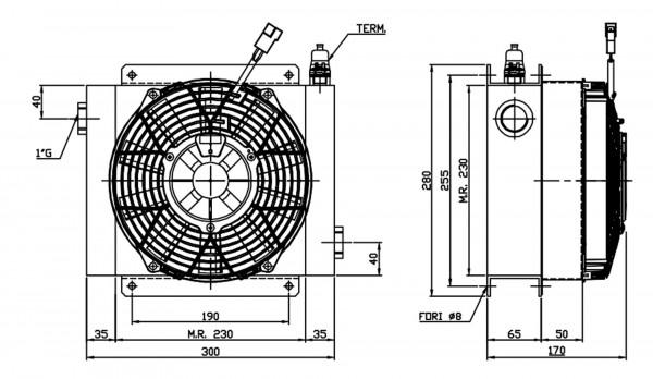 Ferrari Ölkühler FCA 20-100 24V inkl. Thermostat