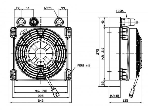 Ferrari Ölkühler FCA 5-40 12V inkl. Thermostat