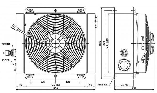 Ferrari Ölkühler FCA 40-180 24V inkl. Thermostat