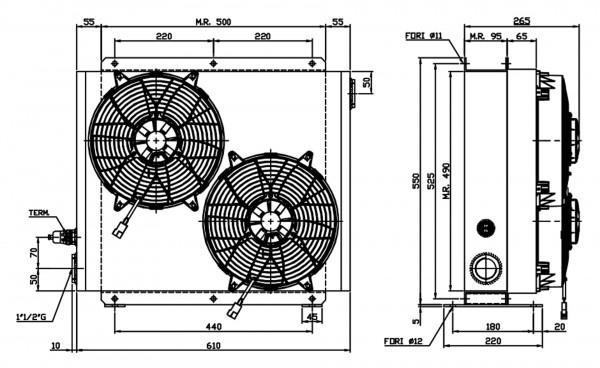 Ferrari Ölkühler FCA 40-320 12V inkl. Thermostat