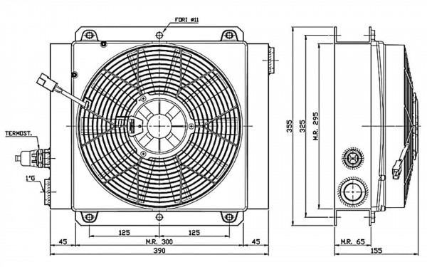 Ferrari Ölkühler FCA 40-140 24V inkl. Thermostat